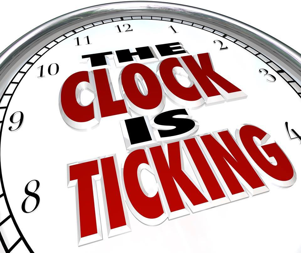 Image result for time is running out clock